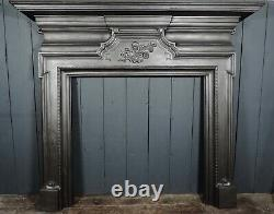 19th Century Antique Victorian Very Large Cast Iron Fireplace Surround