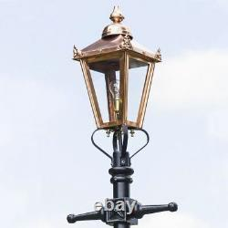 2.3m Copper Traditional Victorian Cast Iron Garden Lamp Post Set Street Lighting