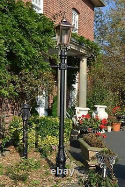 2.66m Tall Copper Traditional Victorian Garden Street Lamp Post & Lantern Set