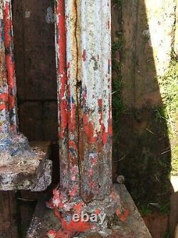 3 Reclaimed Victorian Cast Iron Columns Interior Design Feature Project Vintage