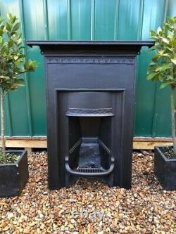 A Beautiful Antique Cast Iron Combination Fireplace