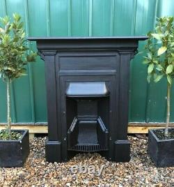 A Beautiful Antique Cast Iron Combination Fireplace