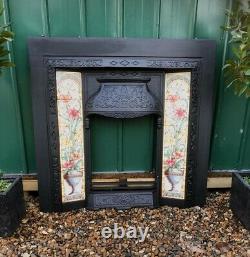 A Beautiful Tiled Cast Iron Fireplace Insert