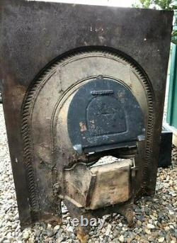 A Lovely Victorian Antique Cast Iron Arch Insert Fireplace circa 1870