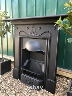 A Simply Beautiful Cast Iron Combination Mantle Fireplace