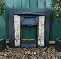 A Sttunning Tiled Cast Iron Fireplace Insert