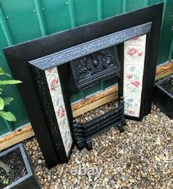 A Stunning Antique High Quality Cast Iron Arched Insert Fireplace