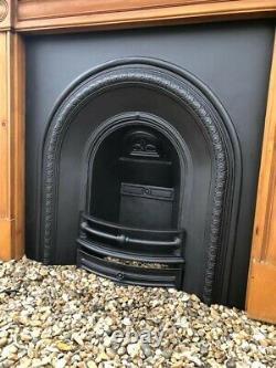 A Stunning Cast Iron Arch Insert Fireplace & Wooden Surround