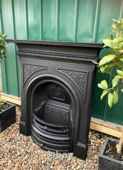 A Stunning Cast Iron Combination Fireplace Complete