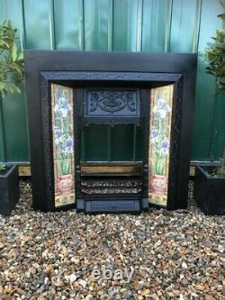 A Stunning High Quality Cast Iron Insert Fireplace