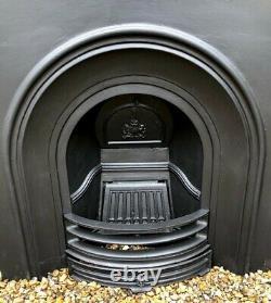 A Stunning High Quality Cast Iron fireplace insert & Wooden Surround