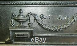 AN ELEGANT VICTORIAN CAST IRON FIRE SURROUND FOR WOOD BURNER / BASKET ref FS0079