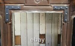 AN ORNATE VICTORIAN CAST IRON FIRE SURROUND FOR LOG BURNER / BASKET Ref FS0086
