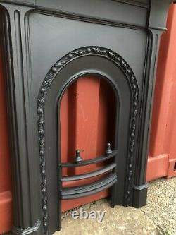 ANTIQUE Cast Iron Fireplace, Fire Surround DELIVERY Free / £35 UK