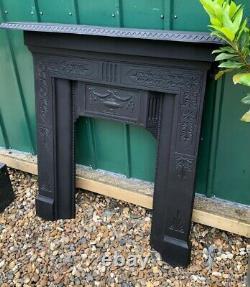 An Original Victorian Antique Cast Iron Mantle Surround Fireplace