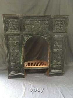Antique 19th Century Thomas Jekyll Arts and Craft Cast Iron Fire Surround