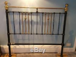 Antique Brass & Cast Iron Bed Frame King Size