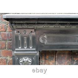 Antique Cast Iron Fire Surround