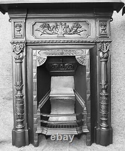 Antique Cast Iron Fire Surround / Fireplace Victorian / Edwardian Uk Del