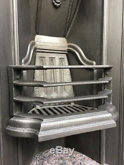 Antique Cast Iron Fireplace / Fire Surround / Insert / Victorian Arch