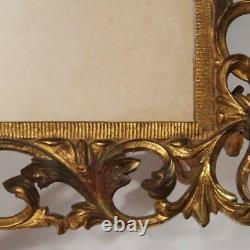 Antique Cast Iron Ormolu Victorian Double Picture Frame
