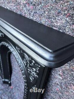 Antique Cast Iron Victorian Fire Surround / Fireplace Arched, Dated 1873, Uk Del