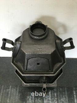 Antique Cast Iron Victorian Pagoda Scullery Laundry Stove Range Fireplace QP299