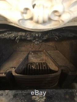 Antique Cast iron fireplace With Replica Marble Surround