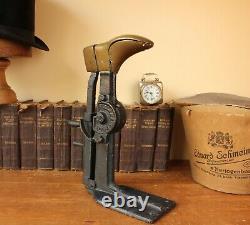 Antique Lacoste Villeneuve-Sur-Lot Metal Shoe Last. Cobbler Boot Shop Display