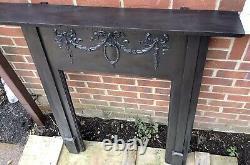 Antique Reclaimed Victorian Cast iron Fire Surround ideal Log Burner