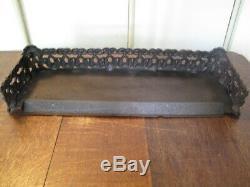 Antique Victorian Cast Iron Fire Fender L64cm approx Vintage Fire Kerb