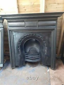Antique Victorian Cast Iron Fire Surround Insert Fireplace Edwardian Carron Old