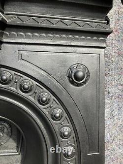 Antique Victorian Cast Iron Fireplace / Fire Surround, Arched, Date 1878 Uk Del