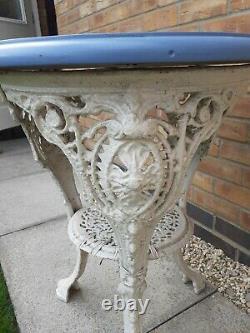 Antique Victorian Cast Iron Pub Table