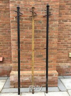 Antique Victorian Cast Iron Washing Line Poles Posts