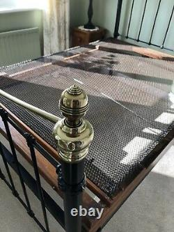 Antique Victorian Cast Iron and Brass 4ft 6 Double Bed