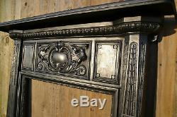 Antique Victorian Ealing Cast Iron Fireplace Fire Surround Wood Stove Surround