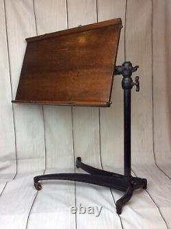 Antique Victorian Oak And Cast Iron Music Reading Stand By William Tonks & Sons