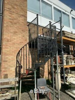 Antique Victorian Ornate Cast Iron Spiral Staircase