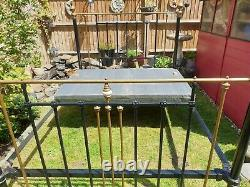 Antique Victorian brass king size bed and base