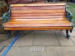 Antique Victorian cast iron Bench