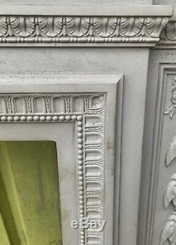 Antique Victorian cast iron fire surround fireplace for log burner