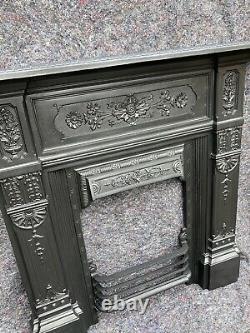 Antique Victorian /edwardian Cast Iron Fireplace / Fire Surround Uk Del