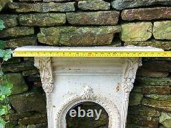 Antique Vintage Ornate Cast Iron Victorian Bedroom Fireplace Fire Surround