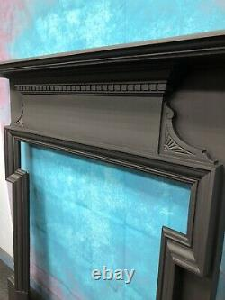 Antique cast iron fire Surround suit wood burner DELIVERY FREE OR £35 Uk