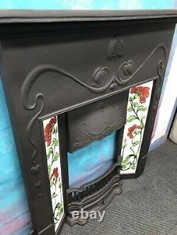 Art Nouveau Cast Iron Fire Surround DELIVERY free or £35 most UK