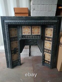 Beautiful Tiled Victorian Cast Iron Fireplace