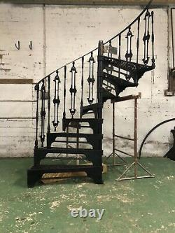 Beautiful Vintage Cast Iron Spiral Staircase Victorian Heavy Duty Design