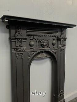 Bedroom Victorian Antique Cast Iron Fireplace, DELIVERY Free Or £35 UK