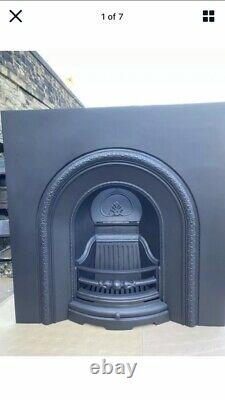 CAST IRON FIRE Arch Insert Living Room /SITTING ROOM FREE DELIVERY